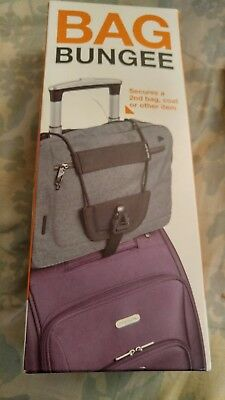 Travelon Bag Bungee Cord Blk One Size Luggage Straps Carry Travel Easier New