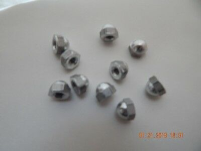 Aluminum Acorn-Cap Nuts 1/4-20.  10 Pcs. New