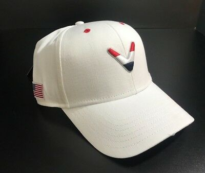 482003589b1 Callaway Golf Performance Golf Cap Red White Blue Ryder Cup Adjustable USA-  NEW