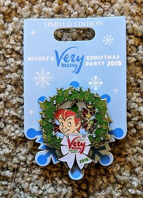 Disney Pin - Peter Pan & Tinkerbell at Mickey's Very Merry Christmas Party 2018