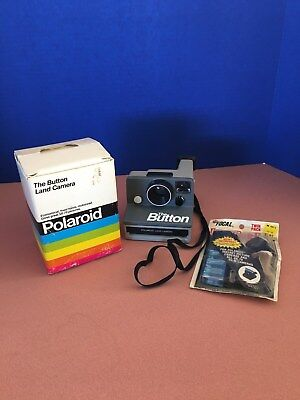 POLAROID 'THE BUTTON' SX-70 LAND CAMERA, Untested, in Original Box