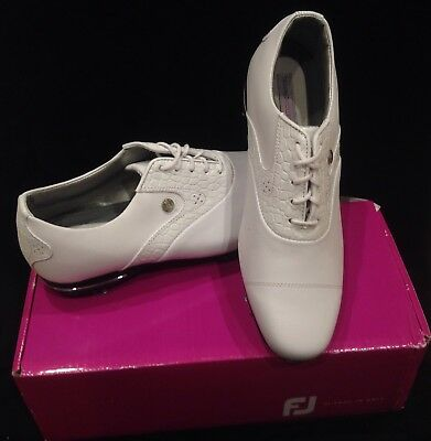 BRAND NEW FootJoy Tailored Collection Women s Golf Shoes - White 10 Wide   91654 d51b7705bea