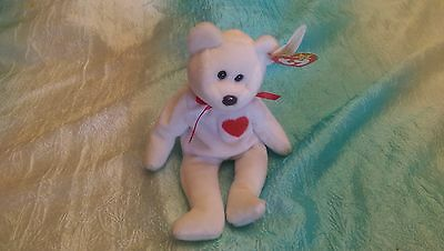 """Ty Beanie Babies Baby""""Valentino"""" Rare Retired 1994 DOB with 1993 tag. Brown Nose"""