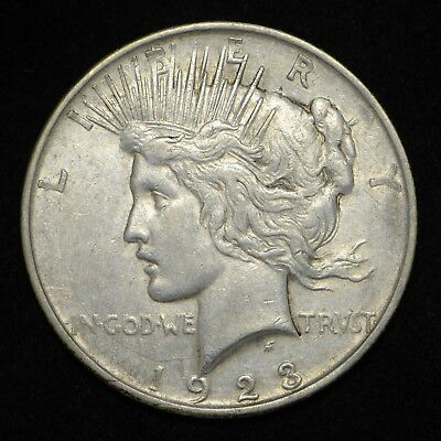 1923-D Peace Silver Dollar (bb2282)