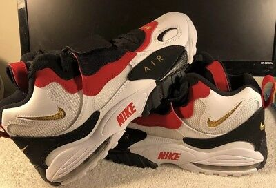 3b153d8f73c4e3 Nike Air Max Speed Turf Deion Sanders White Metallic Gold Men s Sz 11