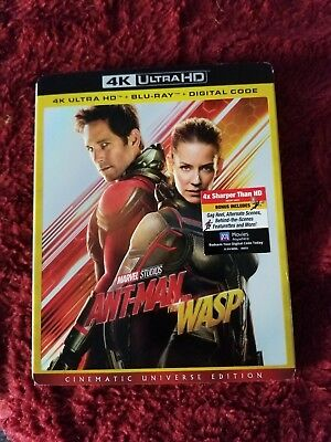 Marvel Ant-Man and the Wasp 4K Ultra HD Blu Ray Movie Used Exc Con NO Digital