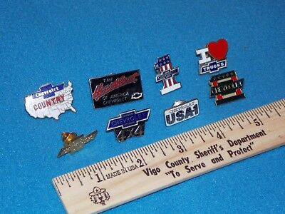 Vintage - Lot Of 8 Different Chevy Pins