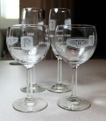 Rolls Royce Bently Odyssey Glasses Wine Champagne Flutes Auto End Commemorative