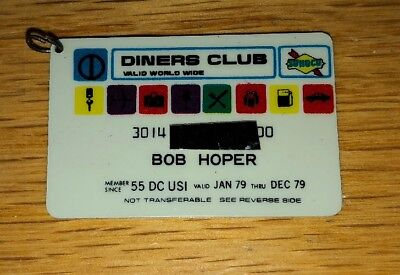 Vintage Diners Club Credit Card 1979 - Key Chain Sized