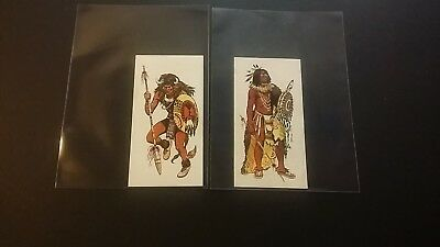 "1975 Goodies ""indian Tribes"" X2 (#15 Blackfoot Medicine Man/#3 Buffalo Dancer)"