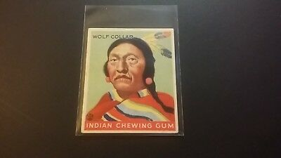 "1933 Goudey (R73) ""indian Gum"" #93 Wolf Collar"