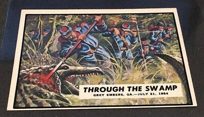 1962 Topps Civil War News #73 Through The Swamp Ex Excellent Condition