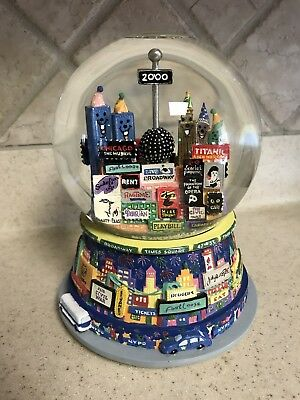 Twin Towers New York City Broadway Musical Theater Snow Globe Auld Lang Syne