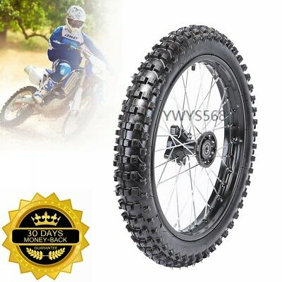 Front 1.6*17 Knobby 15mm Axle Wheel Rim Tire Tyre fit Dirt Pit Pro Trail Bike US
