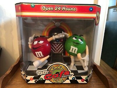 Vintage M & M's Candy Dispenser Rock 'N Roll Cafe Limited Edition New In Box