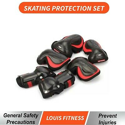6pcs Skating Bike Protective Gear Set Kids/Adult Wrist Elbow Knee Pad Skateboard