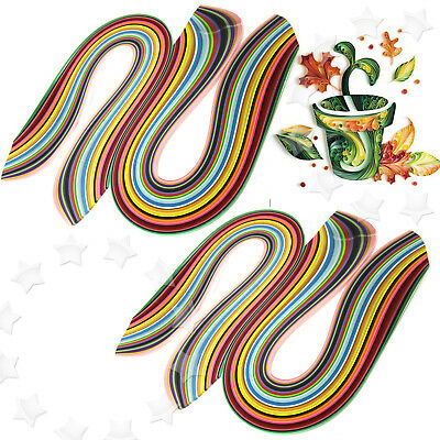 2 Sets of 3/5mm Quilling Paper Strips 36 Colours Assorted DIY Craft 360pcs