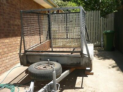 6 x 4 Heavy duty trailer with cage and spare wheel - needs restoration