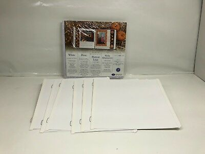 18 Creative Memories 7 x 7 White Scrapbook Pages 12 Sheets New 6 Open