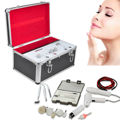 5in1 High Frequency Galvanic Facial Brush Vacuum Spray Beauty Machine SPA new