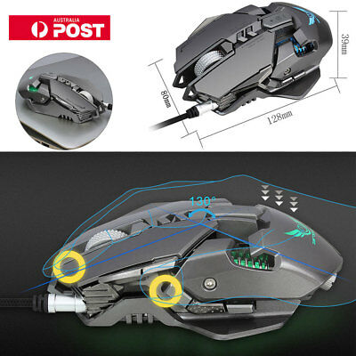 X300GY USB Wired Competitive Gaming Mouse Mechanical Gamer Mice for PC Laptop