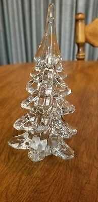 Vintage Clear Crystal Art Glass Christmas Tree 6 1/2""