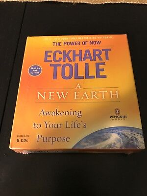 Eckhart Tolle A New Earth Awakening To Your Life's Purpose Audiobook On CD