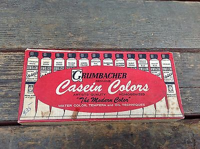 Vintage Grumbacher Casein Colors Set 340
