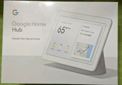 """Google Home Hub with Google Assistant Smart 7"""" Display - Chalk Grey Brand New"""