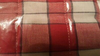 Longaberger PICNIC PLAID HANDLE GRIPPER ~ Button-Style Brand New!