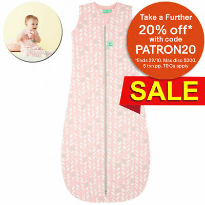 ErgoPouch 0.2 TOG Sleeping Swaddle Wrap/Bag for 8-24m Baby/Infant Spring Leaves