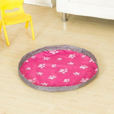 Waterproof Indoor Outdoor Children Kids Travel Picnic Mat Rug Toys Storage Bag A