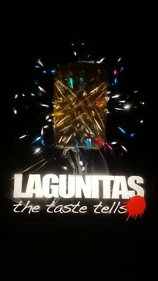 "Lagunitas 3D Mason Jar Sparkling Motion Light LED Sign ~ New ~ 16"" x 13"" x 3"""