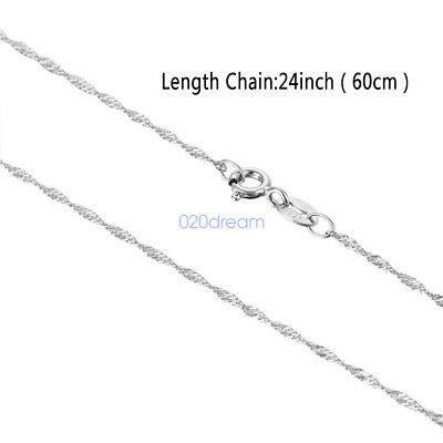925 Sterling Silver Long Chain Necklace Wholesale Prices 24 Inch Italian Jewelry
