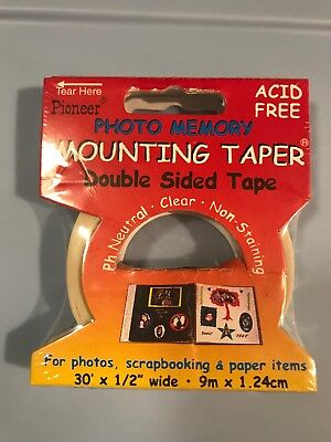 """Pioneer MMT-9 Photo Memory Double-Sided Mounting Tape-.5/""""X30/'"""