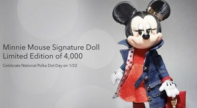 "DISNEY LAND/WORLD "" MINNIE MOUSE ROCK the DOTS DOLL "" LTD EDITION 4,000PC 2019"