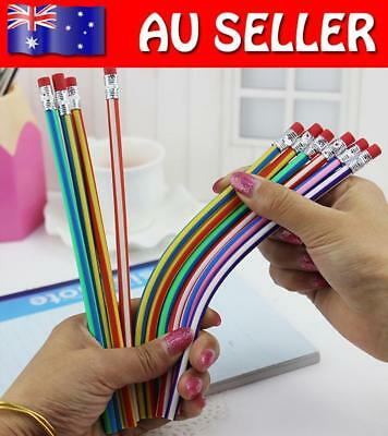 5x Colorful Magic Flexible Folding Bendy Soft Pencil+Eraser For Kids Children