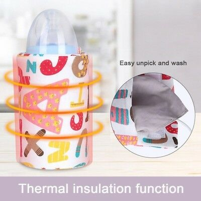 AU USB Baby Feeding Milk Bottle Warmer Heating Insulation Cover Outdoor Portable