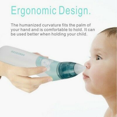 Baby Nasal Aspirator Electric Safe Hygienic Nose Cleaner Snot Sucker For baby AU