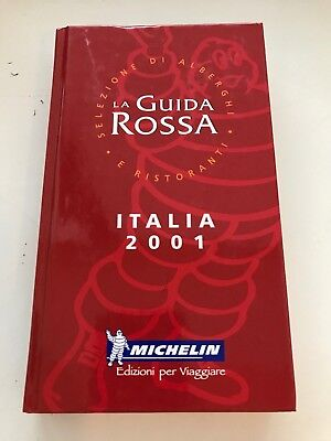 Guide Michelin Italia 2001 Guida Rossa Edition locale