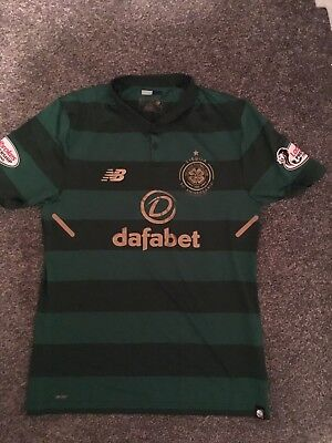 Celtic FC XL New Balance Player Version Away Shirt Brown 8