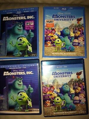 Disney Monster Inc And University Blu Ray Like New No Code Plz Read Detail