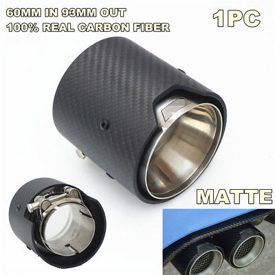 Real Carbon Fiber Exhaust Pipe Trim Tip OUTLET: 93mm 3.66inch INLET:60mm 2.4inch