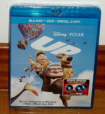 Up Pack Combo 2 Discs Blu-Ray+Dvd Disney New Sealed (Unopened) R2