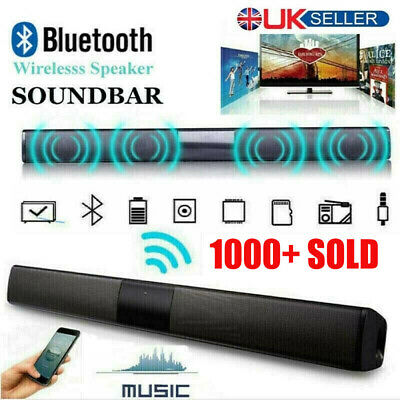 TV Home Theater Soundbar Bluetooth Sound Bar Speaker System Subwoofer w/ Remote