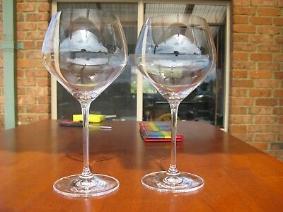 RIEDEL - Austrian Crystal (Pair) Burgundy Glasses
