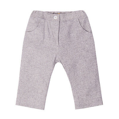 GUSELLA Trousers Size 6M Herringbone Elasticated Waist Bow Details Made in Italy