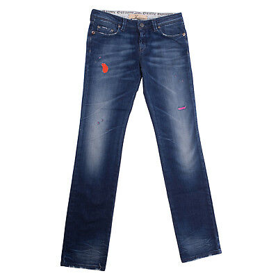 JOHN GALLIANO Jeans Size 12Y Stretch Distressed Style Faded Patched Inside