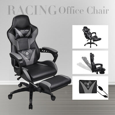 Executive Racing Gaming Chair Massage PU Leather Sport Computer Office Desk Seat
