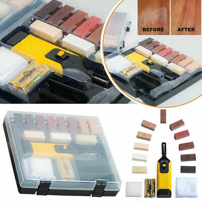 19pc Laminate Floor/Worktop Repair Kit Wax System Sturdy Chips Scratches S247